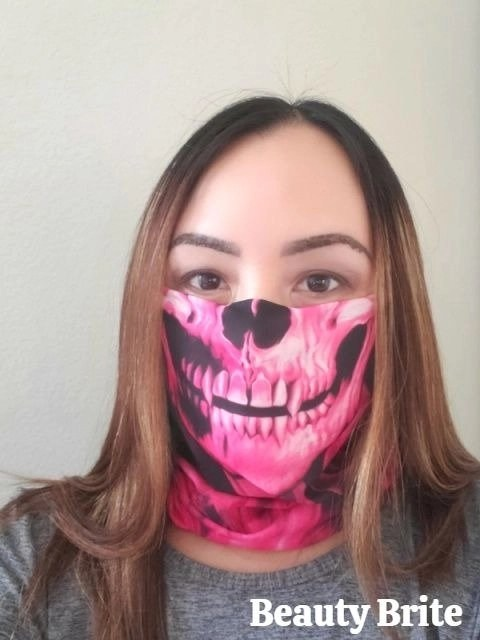 Pink Skull face shield