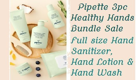 pipette hand sanitizer, hand lotion trio