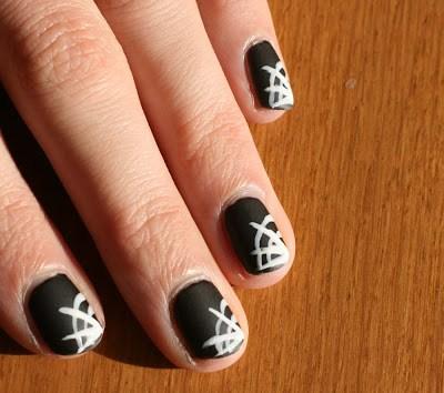 [Halloween] Spider Web Nails