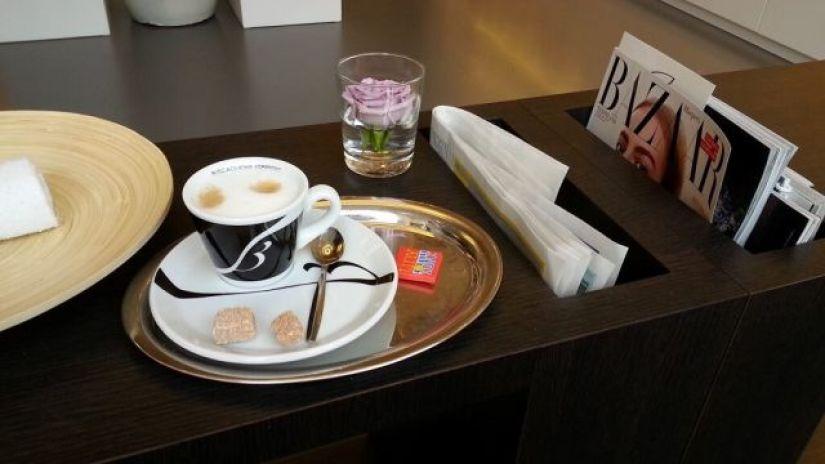 kopje koffie bij  Lauren Salon & Spa