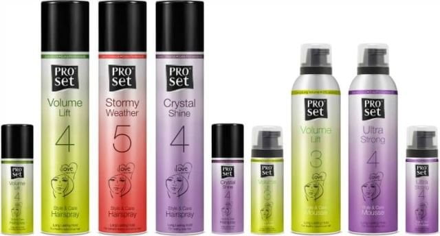 ProSet Style & Care Hairspray and Mousse