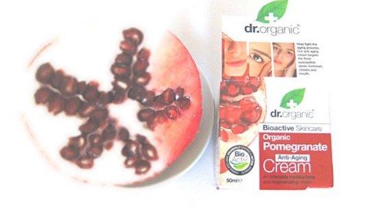 pomegrate anti aging cream dr. organic u