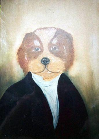 schilderij hond babs (30)