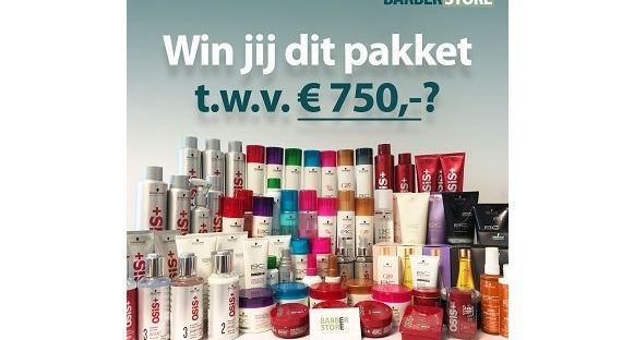 Win voor €750 aan haarproducten bij de Barberstore! 31 win Win voor €750 aan haarproducten bij de Barberstore! Haarverzorging