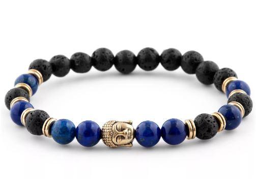 Blauwe Armband Homage aan Boeddha