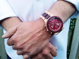 houten horloge timer rood (4)