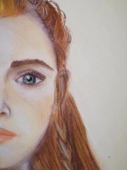 portret tekening pastel