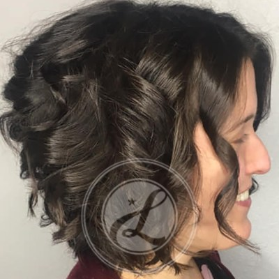 volume short hairstyle and hair cut
