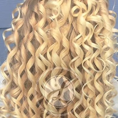long blonde curls portland salon