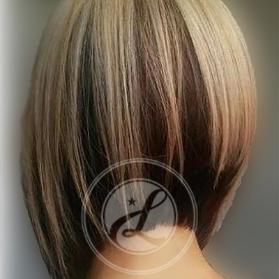 sassy undercut hairstyle and bright highlights