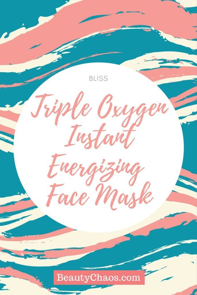 BLISS Triple Oxygen Instant Energizing Face Mask Pin - Beauty Chaos