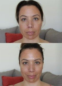 Leaders Coconut Gel Brightening Recovery Mask Face - before and after
