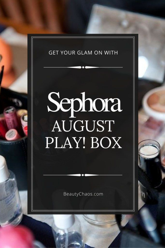 Sephora August Play! Box Pin - Beauty Chaos