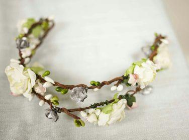 Flores primavera, tocado