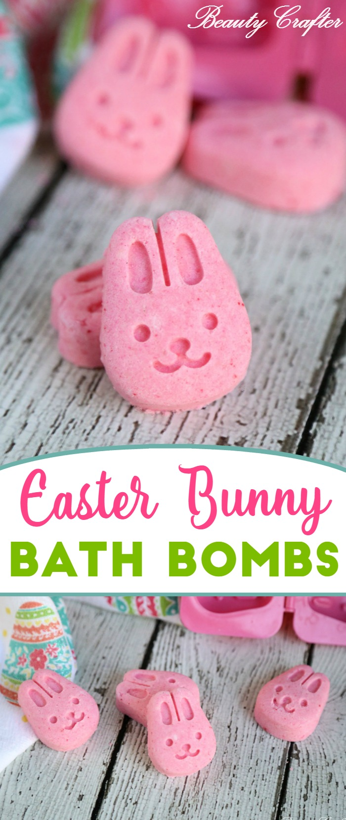 Easter Bath Bombs - Easter Bunny Craft, cute pink rabbit bath bombs #bathbombs #easter #bunnies