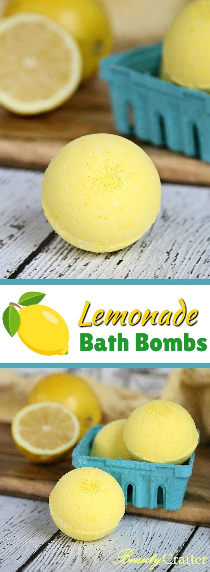 Lemon Bath Bombs Recipe - DIY Lemon Bath Fizzies #bathbombs