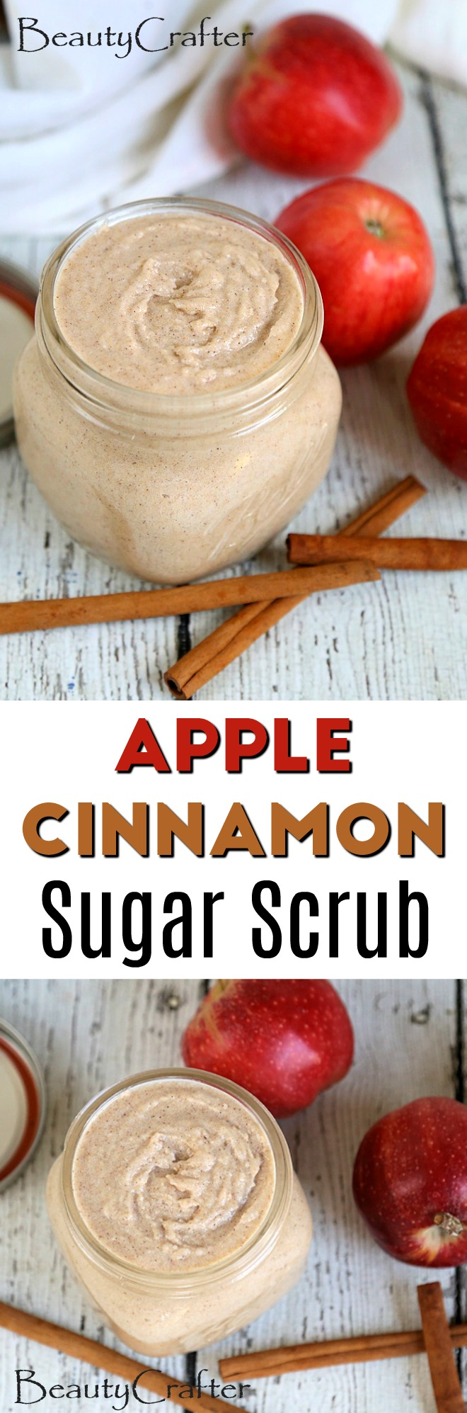 apple cinnamon sugar scrub recipe - beauty crafter