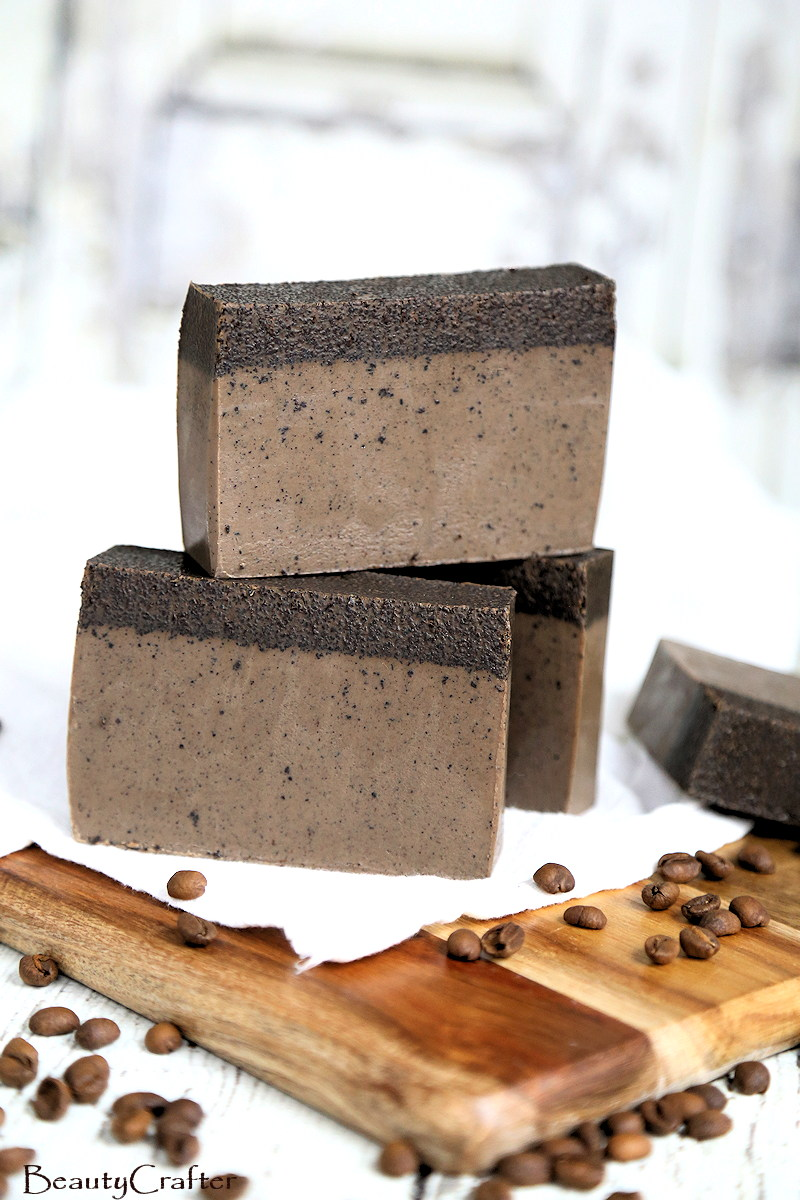 melt and pour coffee soap DIY