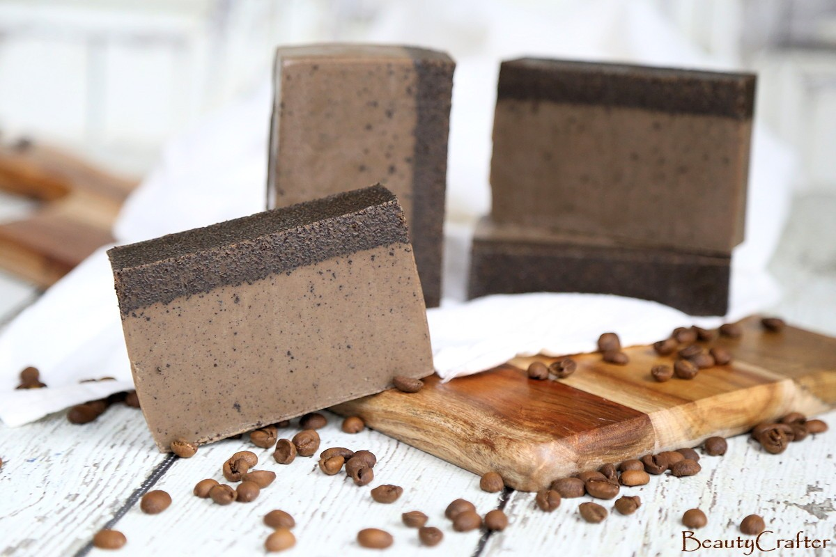 diy coffee soap recipe easy melt and pour coffee soap