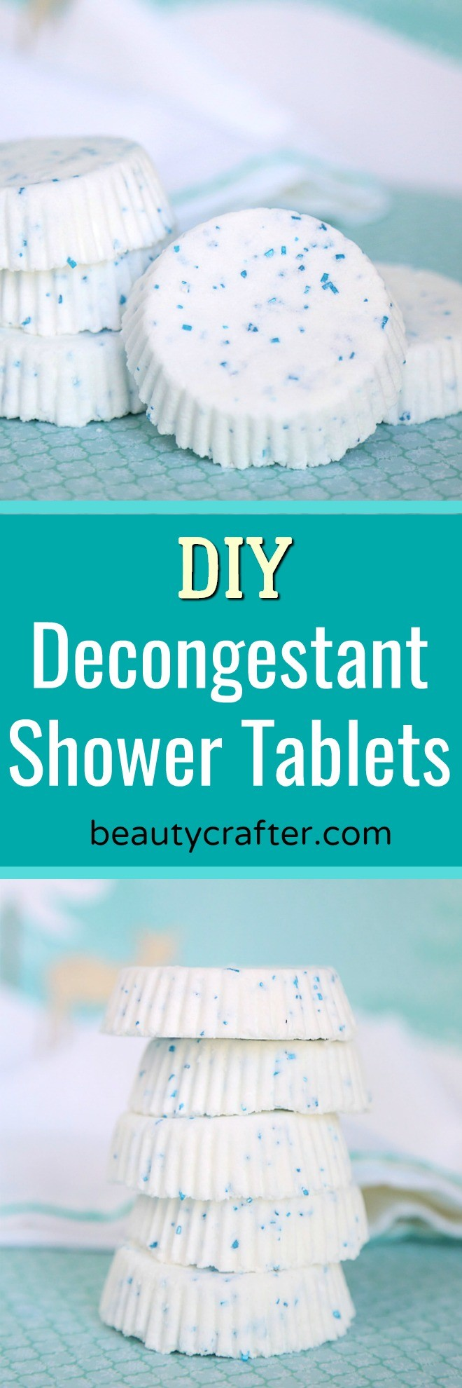 DIY Decongestant Shower Tablets - natural remedy for nasal and sinus congestion. #showertablet #health #diy #essentialoils #naturalhealth