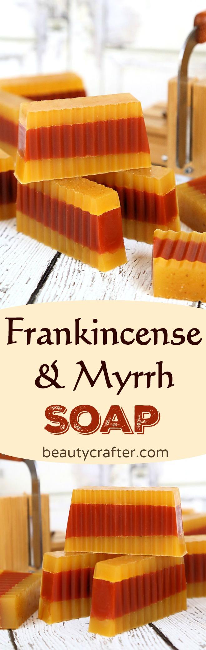 DIY Frankincense Myrrh Soap