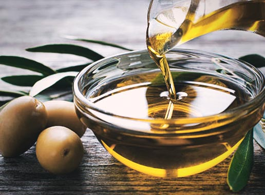 Onion juice and Olive oil