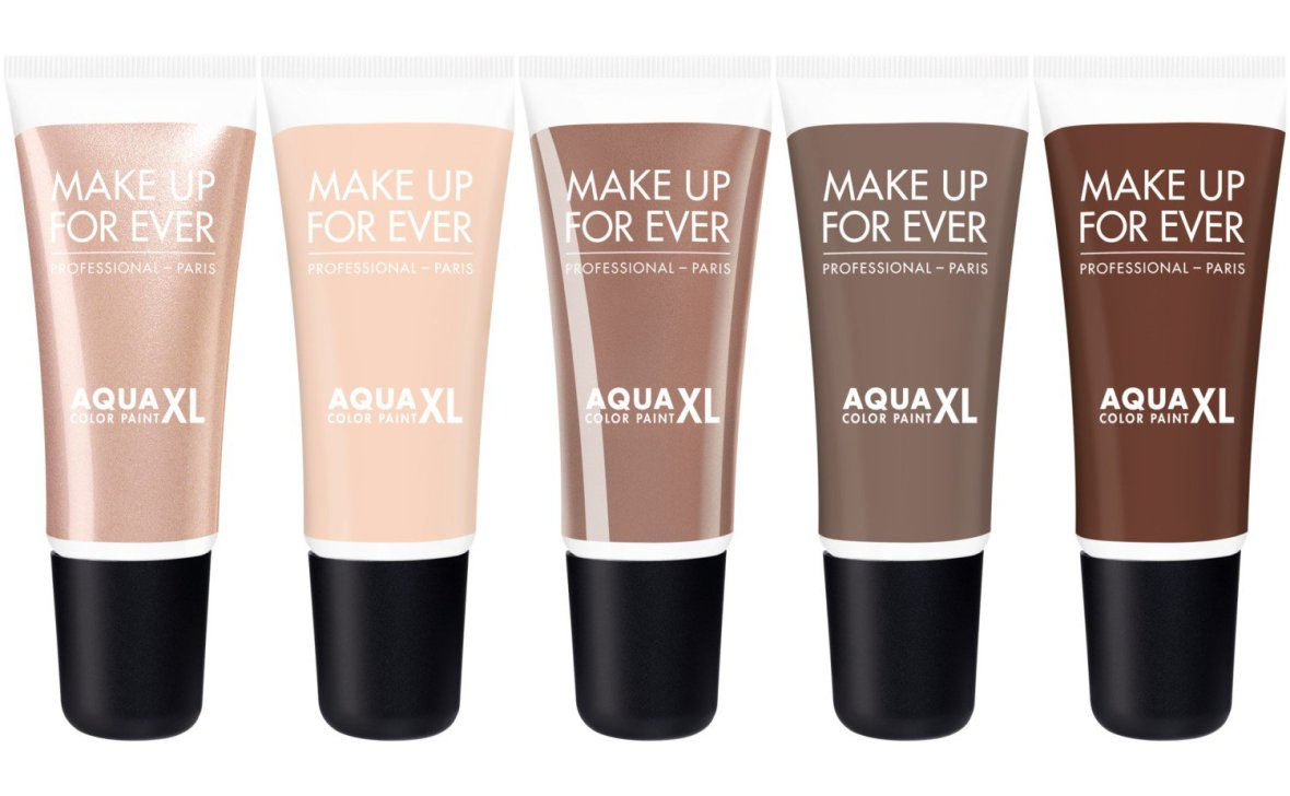 Make Up For Ever Aqua XL Color Paint I-50 Iridescent Warm Beige M-52 Matte Beige L-54 Lustrous Taupe M-56 Matte Taupe M-60 Matte Brown