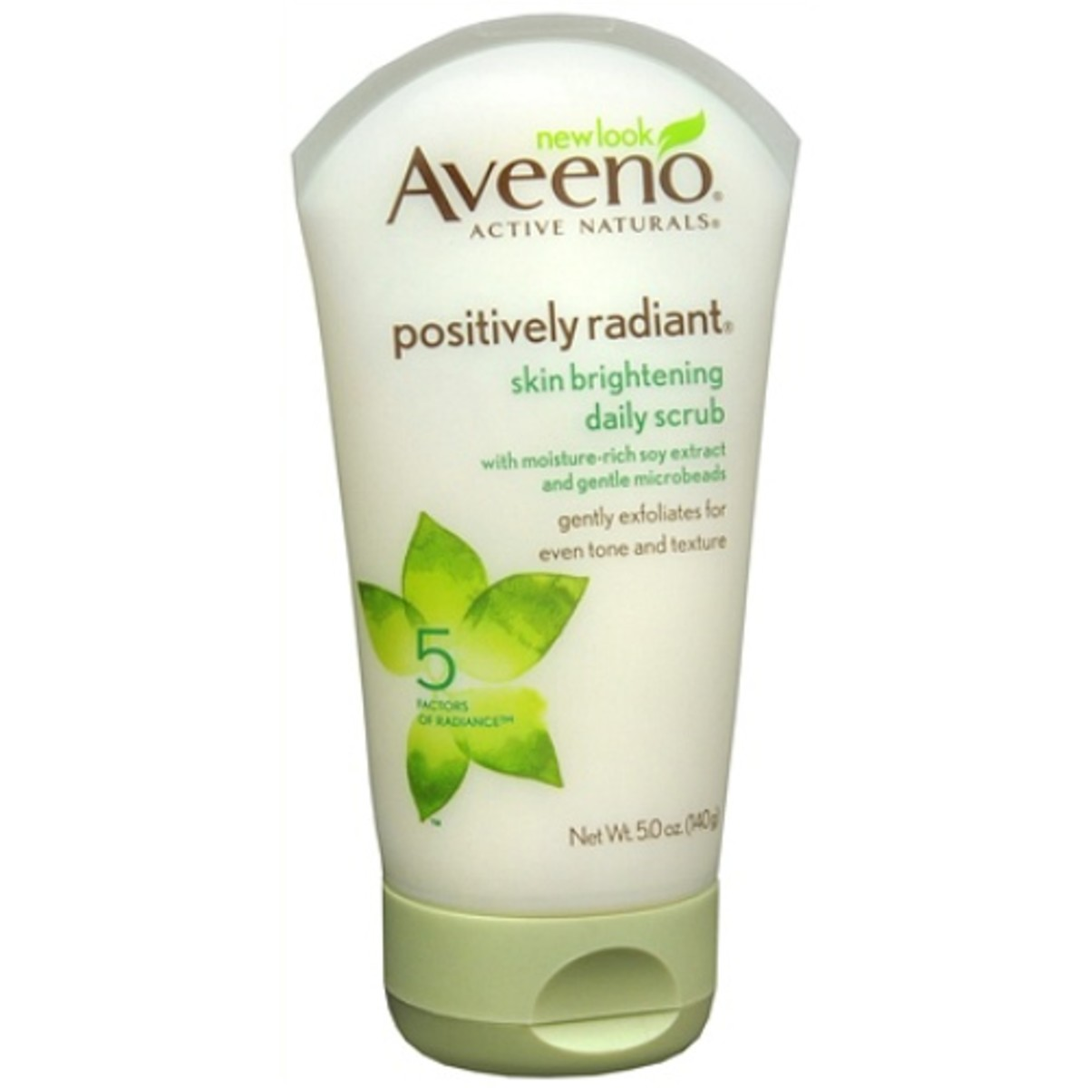 Aveeno 5 Daily Positively Scrub Skin Ounce Radiant Brightening