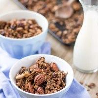 GRANOLA CROCCANTE CACAO CANNELLA E NOCI | Vegan Senza Glutine