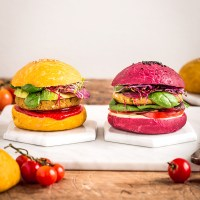 PANINI VEGANI per BURGER al FARRO fatti in casa | con barbabietola e carote | Homemade COLOURED VEGAN BURGER BUNS