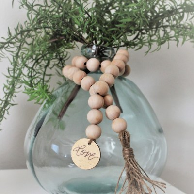 How To Make Wood Bead Garland With Tassels