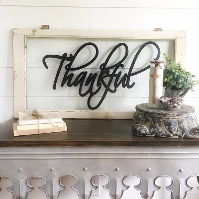 DIY Thankful Sign
