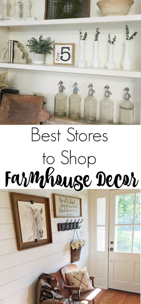 The best places to shop for farmhouse decor, both online and in store, to create the perfect fixer upper look in your home.