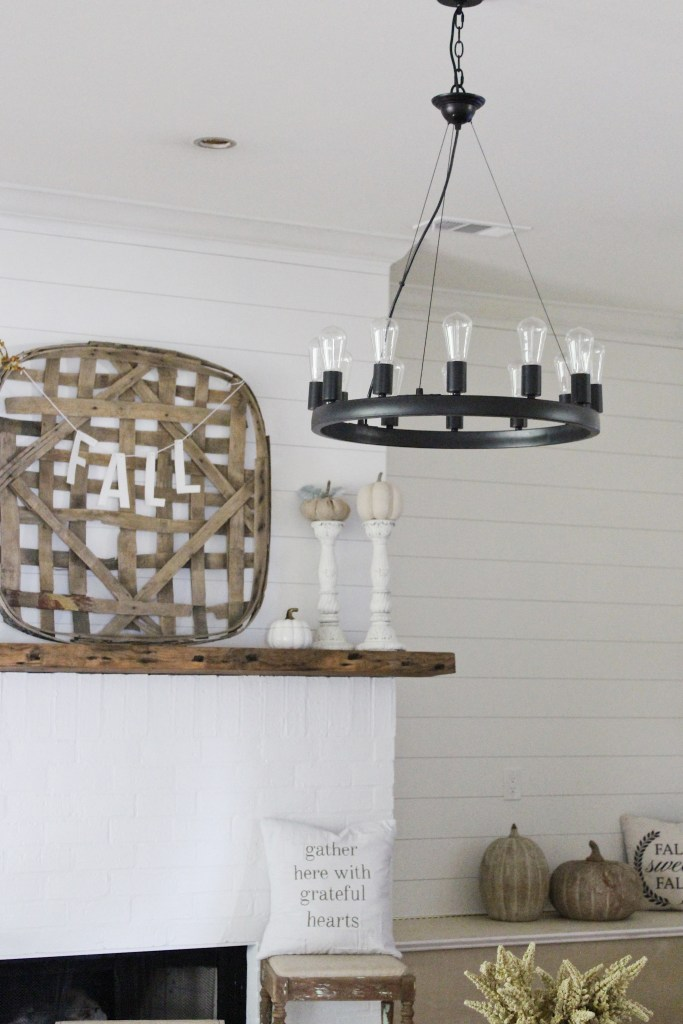 Farmhouse light fixture for the living room