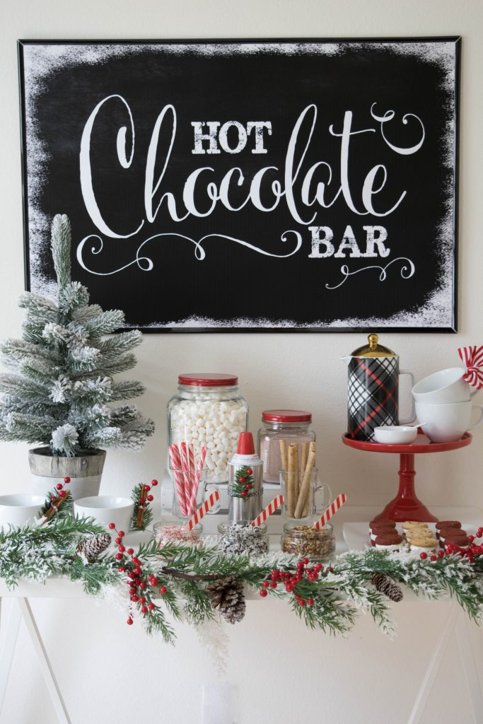 Warm up with these cute ideas on how to set up a hot chocolate bar this winter. Includes ideas for toppings and links to recipe and printables.