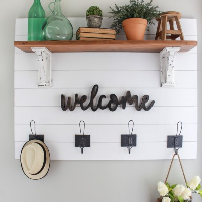 Farmhouse Style Shiplap Coat Rack DIY