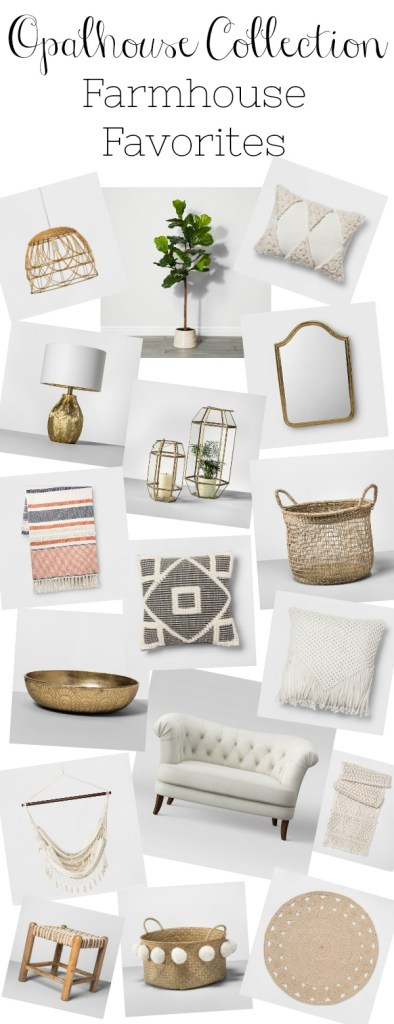 I've gone through the new Opalhouse Collection at Target and picked out all the best farmhouse pieces. There are some great pieces with lots of textures and neutral colors.