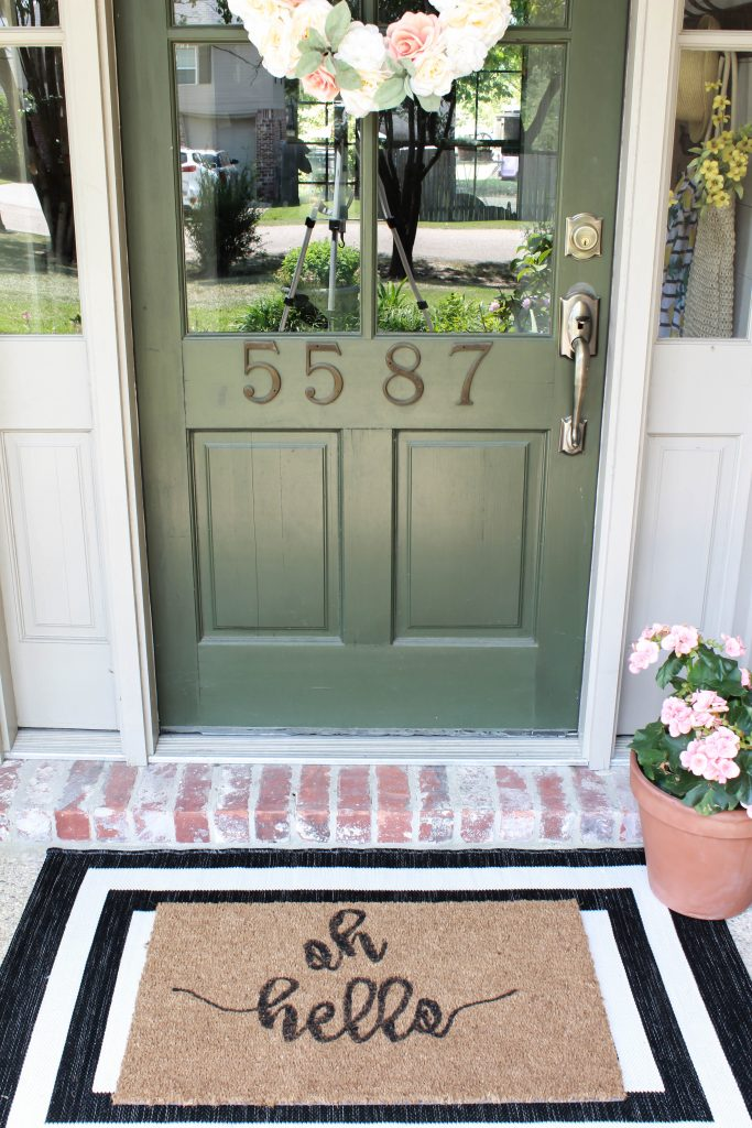 A simple way to spruce up a plain doormat and add some charm to your doorstep. This painted doormat DIY is super easy and a great way to welcome friends.