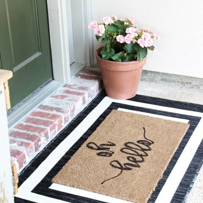 Painted Doormat DIY: Oh Hello