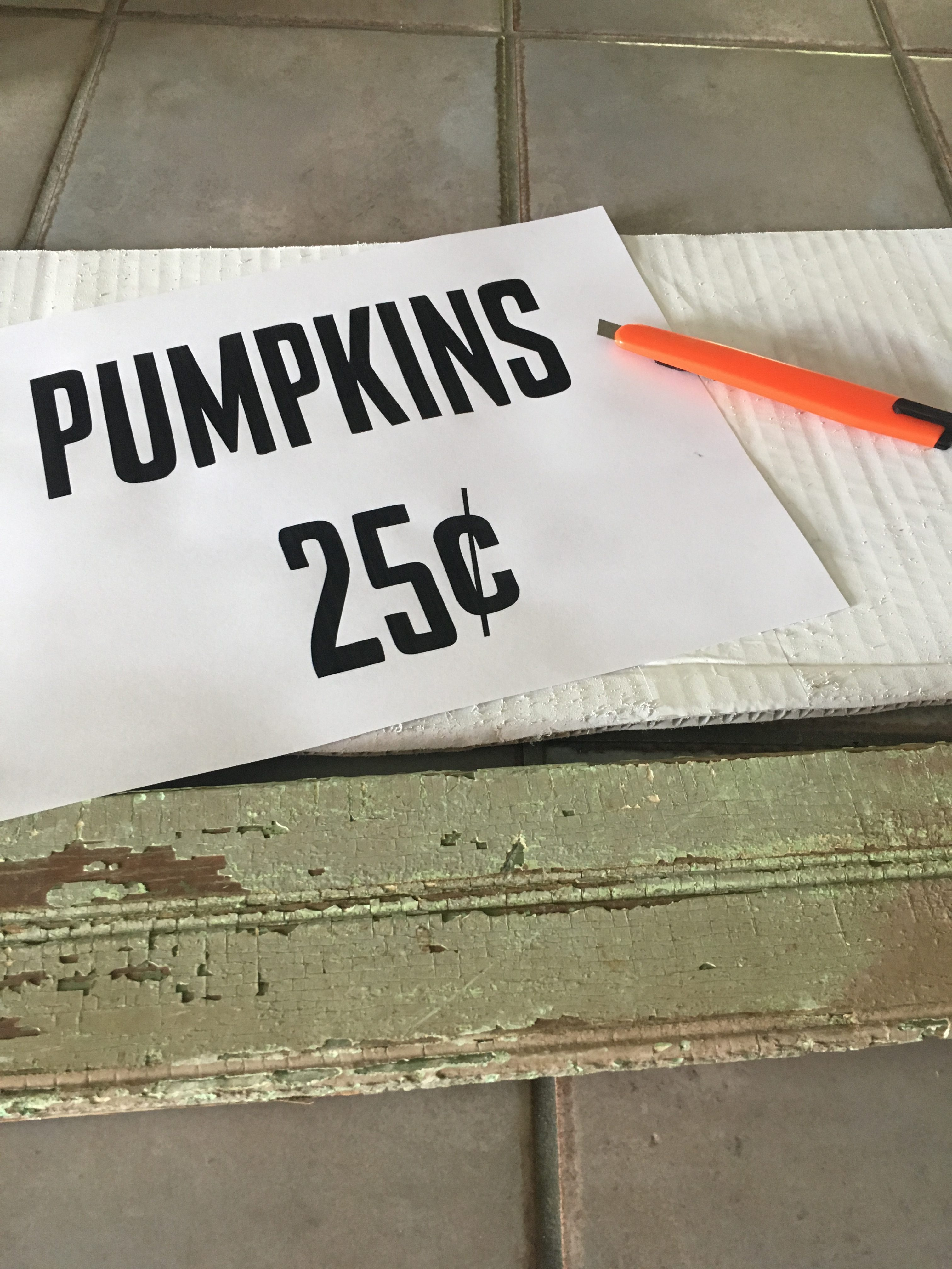 This DIY fall decor is one of the easiest projects you will ever do! The pumpkin sign will make the perfect addition to your fall decor!