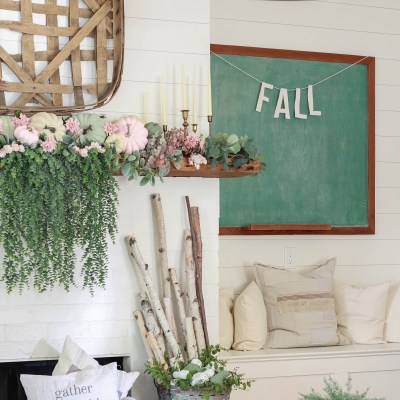 Fall Decor Tour: Foyer & Living Room