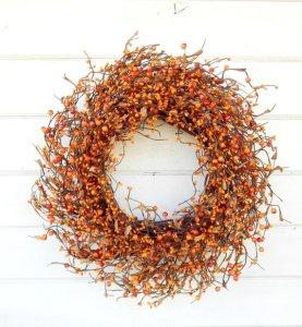 Orange Berry Wreath
