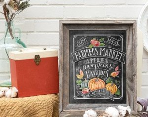 Fall Farmers Market Sign