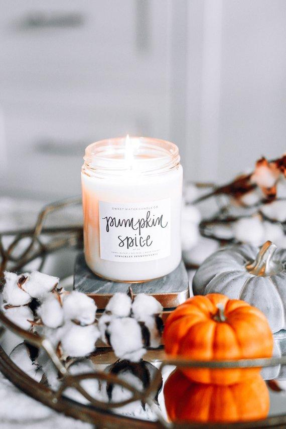 pumpkin spice candle