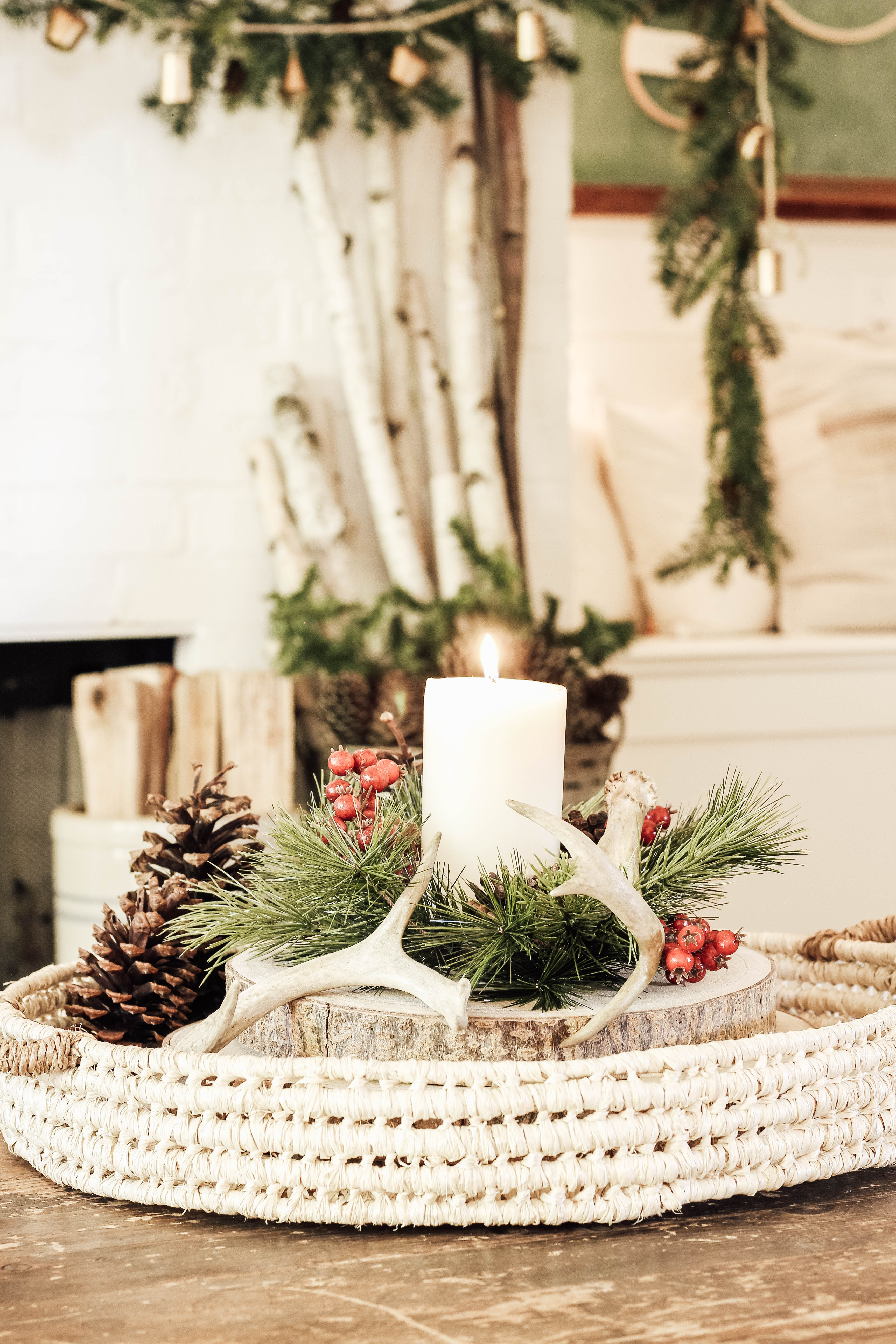 Come get inspired to create a cozy cottage Christmas living room. A winter wonderland of trees, a simple and elegant mantel, and lots of vintage details.