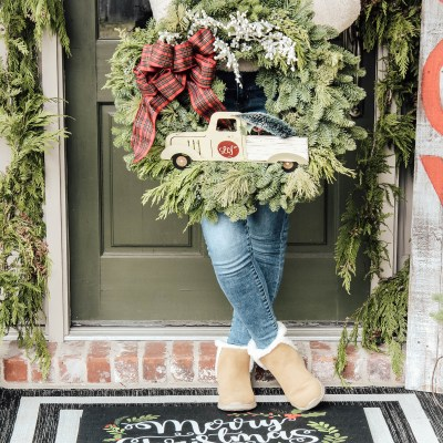Christmas Porch Tour & Wreath Giveaway