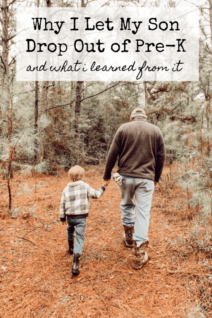 Sharing why I allowed my son to drop out of Pre-K to be homeschooled.
