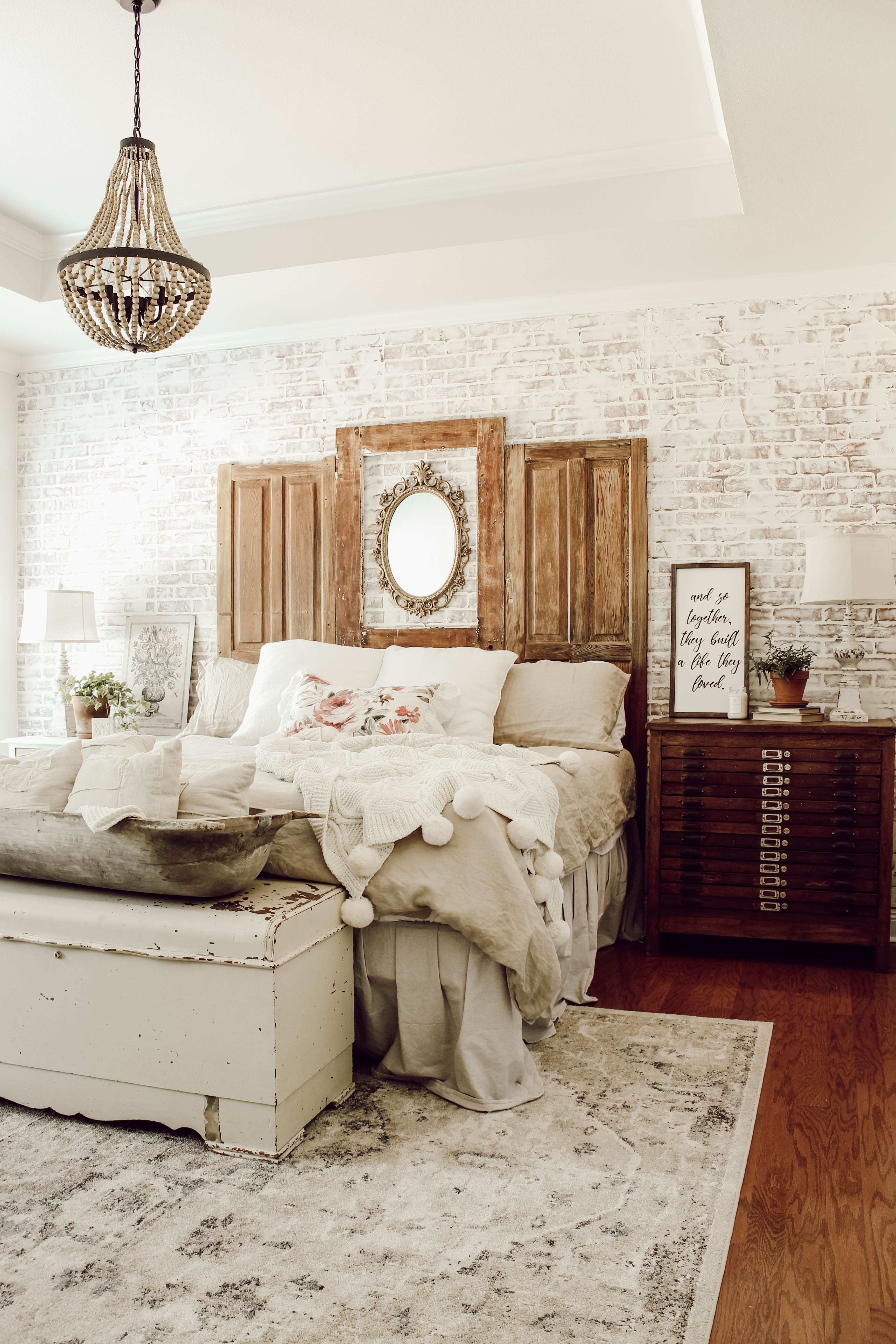 a vintage inspired bedroom