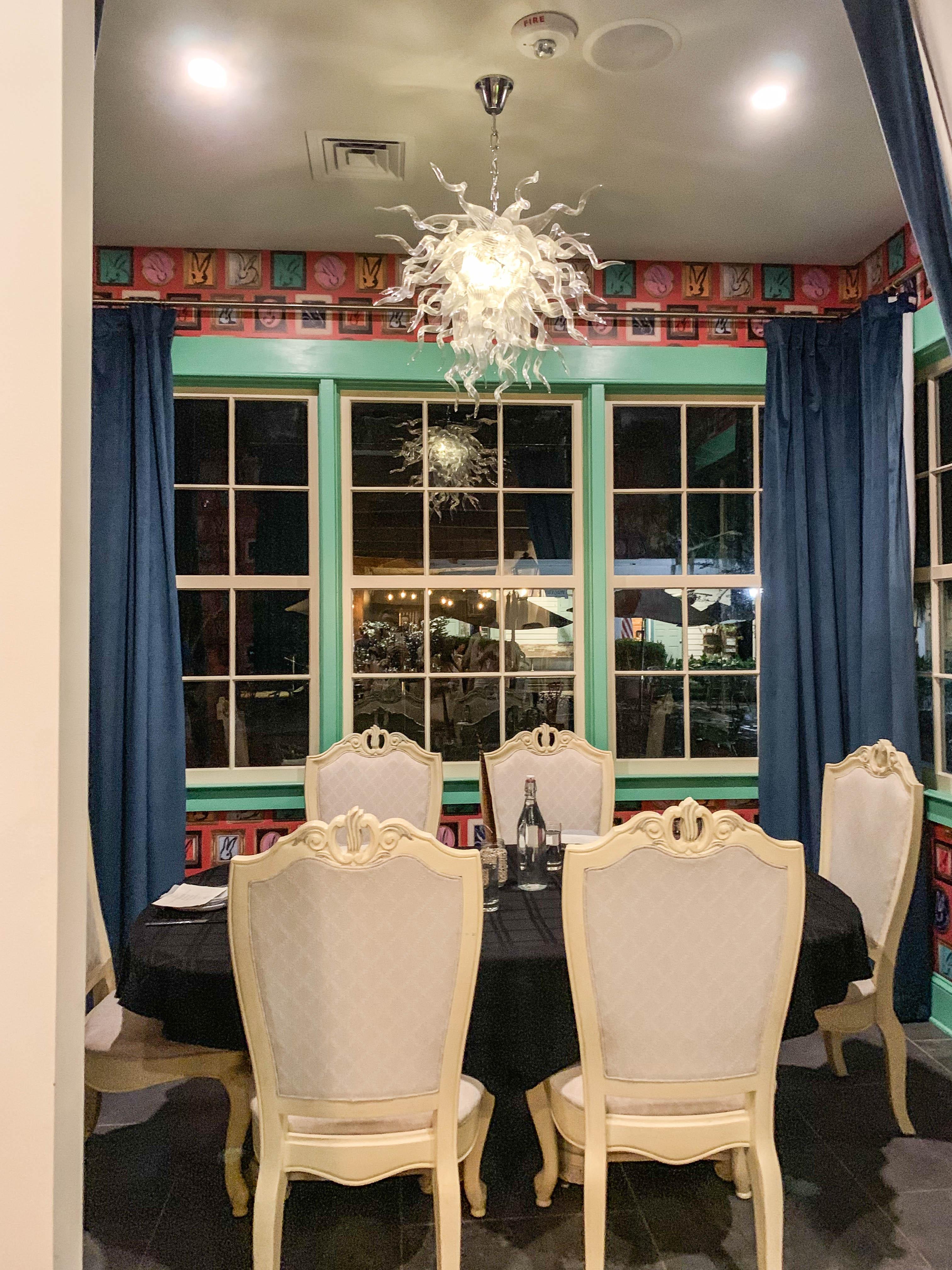 Restaurant 1796 bunny room