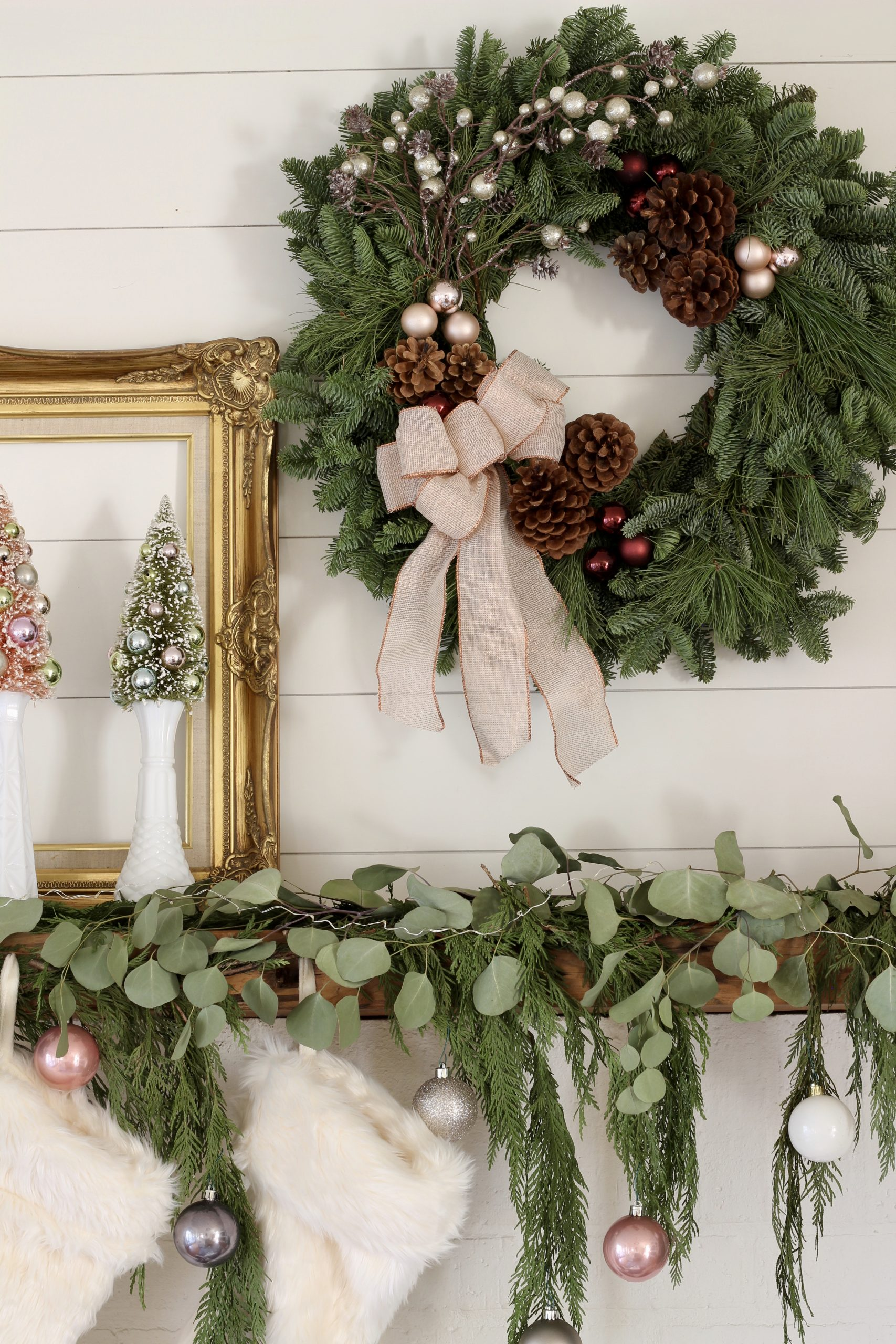fresh evergreen Christmas wreath